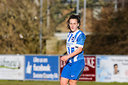 Phoebe Leitch portrait taken during the FA Women's Sussex Challenge Cup semi-final match between Brighton Ladies and Hassocks Ladies FC at Culver Road, Lancing, United Kingdom on 15 February 2015. Photo by Geoff Penn.