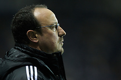 Reading, England - Saturday, December 8, 2007: Liverpool's manager Rafael Benitez during the Premiership match against Reading at the Madejski Stadium. (Photo by David Rawcliffe/Propaganda)