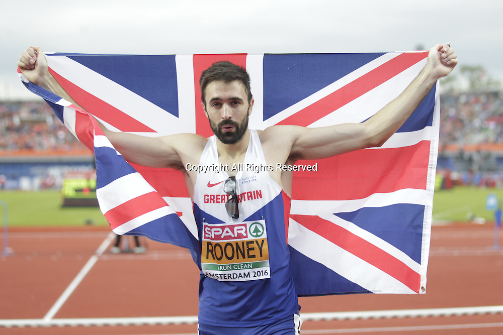 08.07.2016. Amsterdam, Holland. The European Athletics Championships.   Martyn Rooney becomes the European champion in the 400m for men