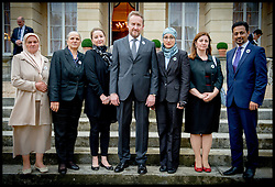 Image ©Licensed to i-Images Picture Agency. 08/07/2014. London, United Kingdom. President Bakir Izetbegovic (Middle)  meets mother's of Srebrenica at the Srebrenica Memorial Reception at Lancaster House. Picture by Andrew Parsons / i-Images