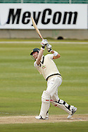 Michael Clarke (c) of Australia hits a boundary during Day 2 of the Sunfoil Test Series between South Africa and Australia played at Sahara Park Newlands, Cape Town, South Africa on the 10th November2011. Photo by Jacques Rossouw/SPORTZPICS