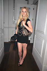 CLARA PAGET at a dinner hosted by designer Pauric Sweeney held in The Postilion Roon, The Langham, ondon on 23rd June 2009.