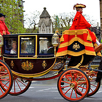 Royal Household at Opening of Parliament Procession in London, England<br />