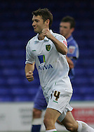 Stockport - Saturday October 31st 2009: Wesley Hoolahan of Norwich City celebrates scoring the second goal against Stockport County during the Coca Cola League One match at Edgeley Park, Stockport. (Pic by Michael SedgwickFocus Images)