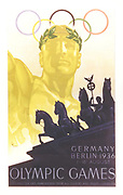 Poster for the Olympic Games in Berlin, Germany, August 1936.