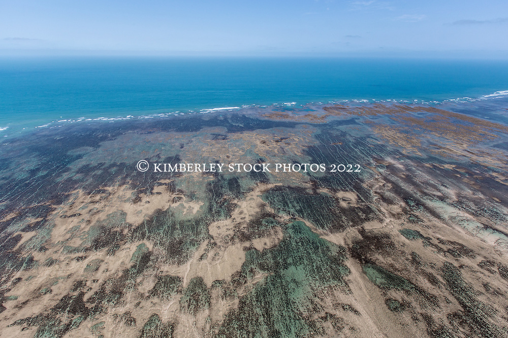 Aerial view of Adele Island on the Kimberley coast.