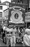 Armthorpe Branch banner. 1993 Yorkshire Miner's Gala. Wakefield.