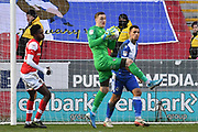 Rotherham United goalkeeper Daniel Iversen (1) during the EFL Sky Bet League 1 match between Rotherham United and Bristol Rovers at the AESSEAL New York Stadium, Rotherham, England on 18 January 2020.