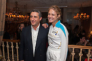 NATALIA VODIANOVA; LUCA DEL BONO, Afternoon tea to  celebrate the addition of the Naked Heart Dessert to Russian restaurant Mari Vanna's menu,  Mari Vanna, 116 Knightsbridge, London, SW1X 7PJ. August 29 2012.