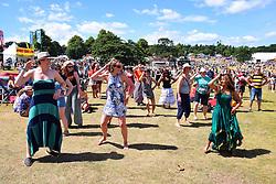 Latitude Festival 2016, Henham Park, Suffolk, UK. Bollywood dancing at the ActionAid tent