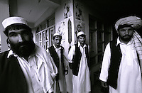 19 August 2005...Shaid Zoi, on the right,  with his political supporters. He is a Khost's  candidate for the forthcoming  Afghan National Elections on Septbember 2005
