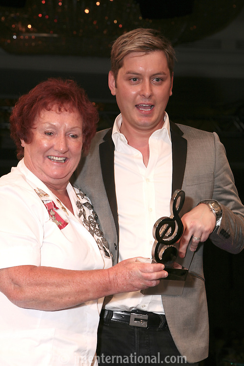 Hard Rock Cafe's Rita Gillingham and host Brian Dowling