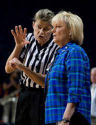 Virginia Cavaliers head coach Debbie Ryan   ..The Virginia Cavaliers women's basketball team fell to the #14 ranked George Washington Colonials 70-68 at the John Paul Jones Arena in Charlottesville, VA on November 12, 2007.