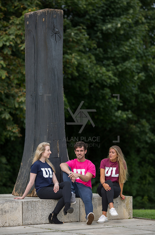 06.09. 2017.                             <br /> #Study at UL<br /> Students promoting The University of Limericks #Study at UL campaign. <br /> Pictured are, Ellen Brasseur, Food Science and Health, Shane O'Hara, Technology Management and Laura Cotter, English and New Media. Picture: Alan Place