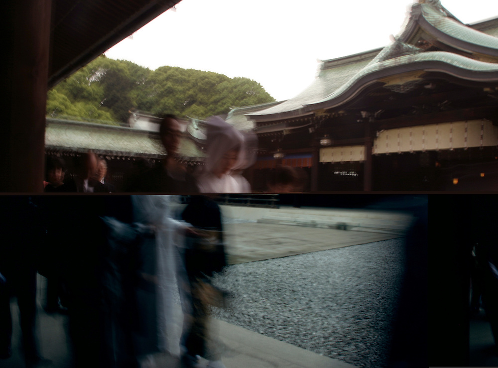 TOKYO, JAPAN 22MAY2004-- Shinto  Wedding  at  the Meiji Jingu shrine in  central Tokyo