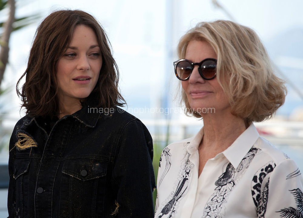 Actress Marion Cotillard and director Nicole Garcia at the Mal De Pierres (From the Land of the Moon) film photo call at the 69th Cannes Film Festival Sunday 15th May 2016, Cannes, France. Photography: Doreen Kennedy