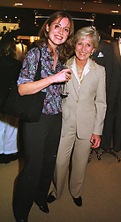 Left to right, TV presenter DAISY DONOVAN and her mother MRS DIANA DONOVAN widow of photographer Terence Donovan, at a party in London on 5th May 1999.MRR 52