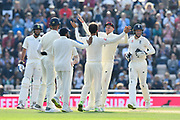 \Wicket - Moeen Ali of England celebrates taking the wicket of Ishant Sharma of India during day two of the fourth SpecSavers International Test Match 2018 match between England and India at the Ageas Bowl, Southampton, United Kingdom on 31 August 2018.