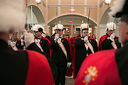 The Knights of Columbus await Bishop Salvatore R. Matano at the end of the Chrism Mass at Sacred Heart Cathedral in Rochester on Tuesday, March 31, 2015.