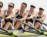 Poznan, POLAND,  GBR W8+, move away from the start in their morning heat, at the 2008 FISA World Cup. Rowing Regatta. Malta Rowing Course on Saturday, 21/06/2008. [Mandatory Credit:  Peter SPURRIER / Intersport Images] .Crew, right to left Bow, Beth RODFORD, Carla ASHFORD, Natasha HOWARD, Natasha PAGE, Jessica-Jane EDDIE, Rowing Course:Malta Rowing Course, Poznan, POLAND