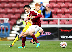 Rory Gaffney of Bristol Rovers goes past Brendan Moloney of Northampton Town - Mandatory by-line: Robbie Stephenson/JMP - 01/10/2016 - FOOTBALL - Sixfields Stadium - Northampton, England - Northampton Town v Bristol Rovers - Sky Bet League One
