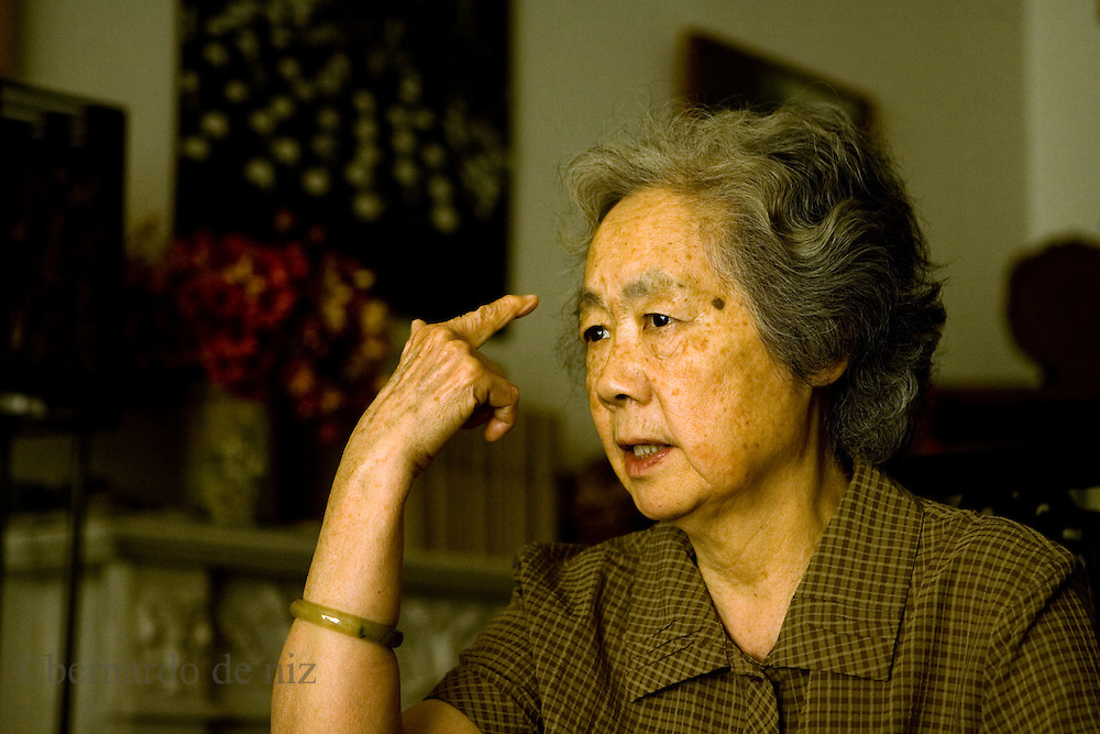 "Ding Ziling, member of ""Mothers of Tiananment"", who lost his son during the Tiananmen protest in 1989, speak during an interview in his house in  in Beijing, China, on Wednesday  May. 12, 2009. Photographer: Bernardo De Niz"