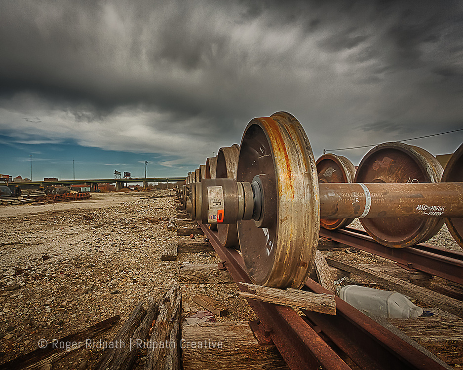 train wheel and axle