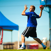 2/18/13 12:03:00 PM -- Bradenton, FL, U.S.A. -- NFL prospect and former USC quarterback Matt Barkley works out at IMG Academy in Bradenton, Fla., in preparation for this year's NFL Combine.  -- ...Photo by Chip J Litherland, Freelance