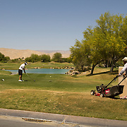 Life on the Golden State Golf Tour means no crowds, small fields and unusual happenings like gardners mowing as players tee it up.