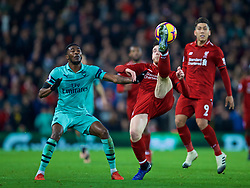 LIVERPOOL, ENGLAND - Saturday, December 29, 2018: Liverpool's Andy Robertson during the FA Premier League match between Liverpool FC and Arsenal FC at Anfield. (Pic by David Rawcliffe/Propaganda)