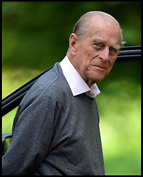 The Duke of Edinburgh judging the International  carriage driving at Windsor Horse Show. Windsor, United Kingdom. Saturday, 17th May 2014. Picture by Andrew Parsons / i-Images