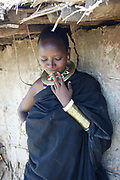 Portrait of a Datooga woman Photographed in Lake Eyasi Tanzania