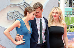 © Licensed to London News Pictures. 30/03/2014, UK. Shailene Woodley; Theo James; Kate WInslet, Divergent - European film premiere, Odeon Leicester Square, London UK, 30 March 2014. Photo credit : Richard Goldschmidt/Piqtured/LNP