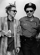 1986 Big Audio Dynamite Medicine Show Video Shoot. John Lydon and Strummer