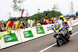 Policman on a motorobike during 5th Time Trial Stage of 25th Tour de Slovenie 2018 cycling race between Trebnje and Novo mesto (25,5 km), on June 17, 2018 in  Slovenia. Photo by Matic Klansek Velej / Sportida