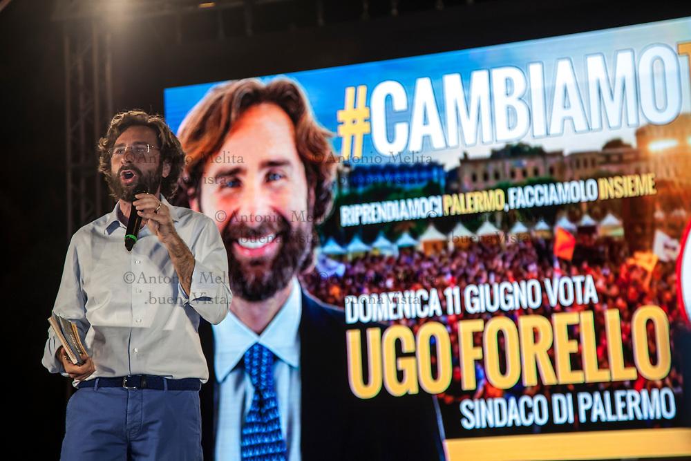 Ugo Forello, candidato a sindaco di Palermo, per il Movimento 5 Stelle (M5S).