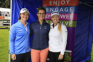 Leona Maguire (IRL) Carla Reynolds and Stephanie Meadow (NIR)at the Golf4Girls4Life festival at the ISPS Handa World Invitational, Galgorm Castle Golf Club, Ballymena, Antrim, Northern Ireland. 14/08/2019.<br /> Picture Fran Caffrey / Golffile.ie<br /> <br /> All photo usage must carry mandatory copyright credit (© Golffile | Fran Caffrey)