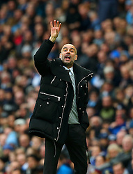 Manchester City manager Josep Guardiola gestures - Mandatory by-line: Matt McNulty/JMP - 05/02/2017 - FOOTBALL - Etihad Stadium - Manchester, England - Manchester City v Swansea City - Premier League