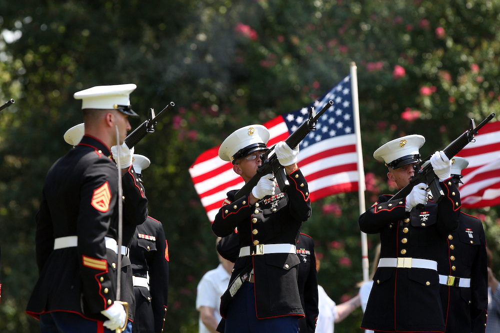 U.S. Marine Corps Sgt. Jay Michael Hoskins along with 3 other marines died Aug. 6, 2009, in Farah Province, Afghanistan, as the result of wounds sustained when his vehicle was hit by a roadside bomb.  His remains returned to Paris, Texas on Aug. 13, 2009 and he was laid to rest Aug. 15, 2009.
