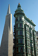 Transamerica building and the Francis Ford Coppola building...Photo by Jason Doiy.11-21-03