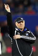 Hamburg Manager Martin Jol practices his dance moves on the sideline during the Bundesliga match between Hamburger SV vs VFL Bochum, 13th May 2009.<br /> <br /> UK ONLY