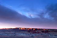 Sunset Alpenglow on Fiery Furnace from Panorama Point View, Arches National Park, Utah