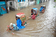 Water Logging: Water logging is a common problem of the Dhaka city especially in rainy season. Old Dhaka August 2008. July 2007 © Monirul Alam