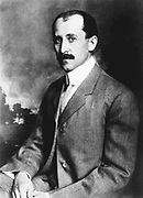 Orville Wright (1871-1948) American aeronautical pioneer,  the  younger of the Wright brothers. Photograph.