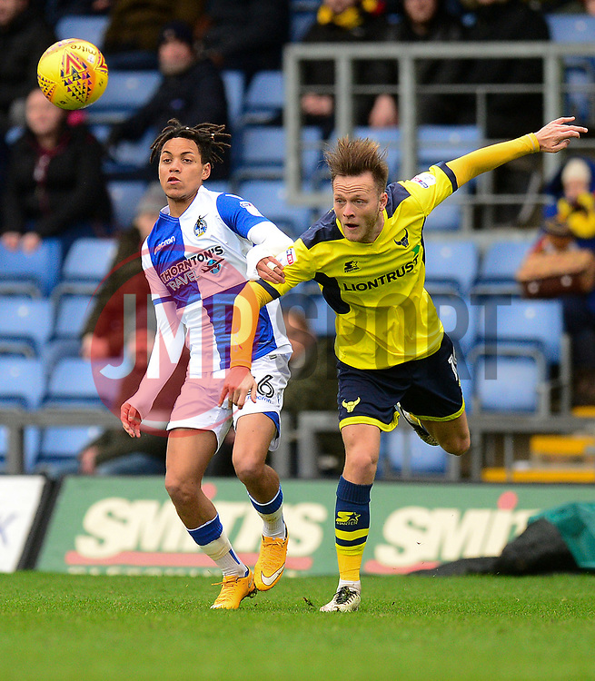 Kyle Bennett of Bristol Rovers Battles for the ball with Todd Kane of Oxford United - Mandatory by-line: Alex James/JMP - 10/02/2018 - FOOTBALL - Kassam Stadium - Oxford, England - Oxford United v Bristol Rovers - Sky Bet League One