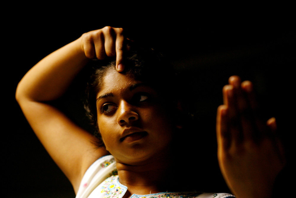 Shanta Hareesh, 13, takes Indian dance class to preserve her traditions.