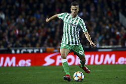 February 28, 2019 - Valencia, Spain - Sergio Canales of Real Betis Balompie During Spanish King La Copa match between  Valencia cf vs Real Betis Balompie Second leg  at Mestalla Stadium on February 28, 2019. (Photo by Jose Miguel Fernandez/NurPhoto) (Credit Image: © Jose Miguel Fernandez/NurPhoto via ZUMA Press)