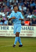 Photograph: Scott Heavey.<br />Stevenage Borough V Tottenham Hotspur. Pre-season friendly. 16/07/2003.<br />Kazuyuki Toda barks orders from midfield.