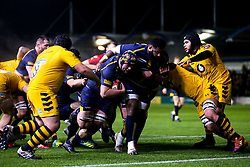 Morgan Monks of Worcester Cavaliers scores a try - Mandatory by-line: Robbie Stephenson/JMP - 16/12/2019 - RUGBY - Sixways Stadium - Worcester, England - Worcester Cavaliers v Wasps A - Premiership Rugby Shield