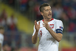 October 14, 2018 - Chorzow, Poland - Robert Lewandowski of Poland during the UEFA Nations League A match between Poland and Italy at Silesian Stadium in Chorzow, Poland on October 14, 2018  (Credit Image: © Andrew Surma/NurPhoto via ZUMA Press)